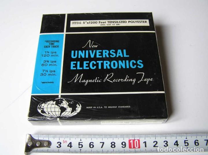 CINTA MAGNETICA DE MAGNETOFON MAGNETOFONO NEW UNIVERSAL ELECTRONICS 3TD5 EN CAJA SIN ABRIR (Radios, Gramófonos, Grabadoras y Otros - Fonógrafos y Grabadoras de Válvulas)