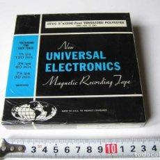 Fonógrafos y grabadoras de válvulas: CINTA MAGNETICA DE MAGNETOFON MAGNETOFONO NEW UNIVERSAL ELECTRONICS 3TD5 EN CAJA SIN ABRIR. Lote 112312623