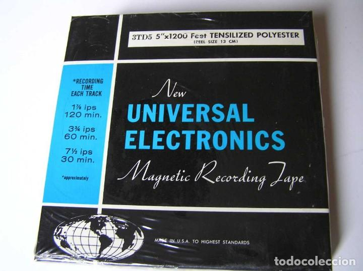 Fonógrafos y grabadoras de válvulas: CINTA MAGNETICA DE MAGNETOFON MAGNETOFONO NEW UNIVERSAL ELECTRONICS 3TD5 EN CAJA SIN ABRIR - Foto 10 - 112312623