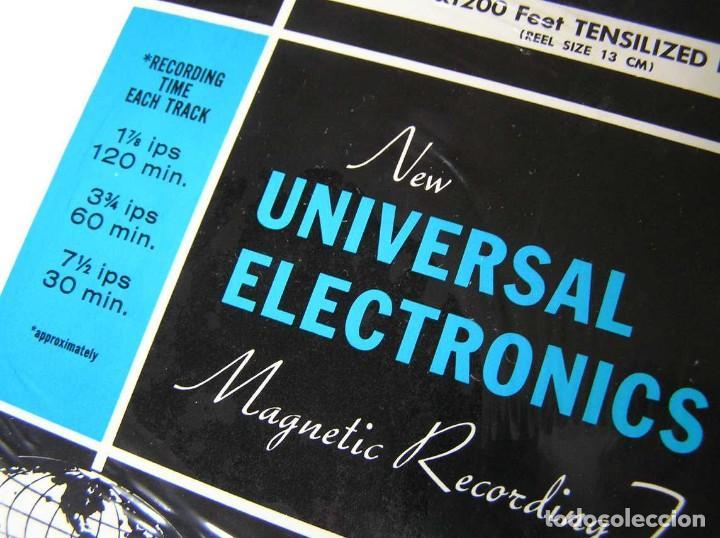 Fonógrafos y grabadoras de válvulas: CINTA MAGNETICA DE MAGNETOFON MAGNETOFONO NEW UNIVERSAL ELECTRONICS 3TD5 EN CAJA SIN ABRIR - Foto 12 - 112312623