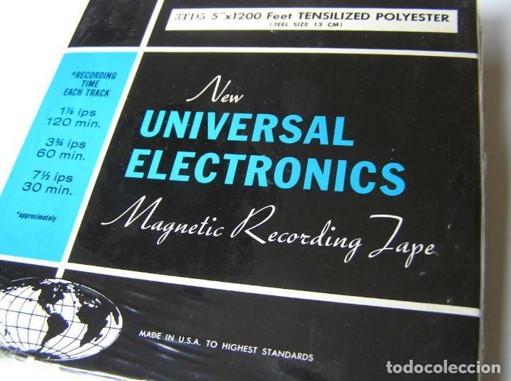 Fonógrafos y grabadoras de válvulas: CINTA MAGNETICA DE MAGNETOFON MAGNETOFONO NEW UNIVERSAL ELECTRONICS 3TD5 EN CAJA SIN ABRIR - Foto 13 - 112312623