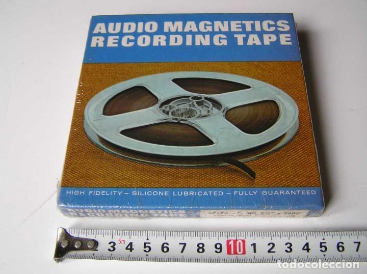 CINTA MAGNETICA MAGNETOFON MAGNETOFONO 42458 AUDIO MAGNETICS 5 3/4 PULGADAS EN CAJA SIN ABRIR (Radios, Gramófonos, Grabadoras y Otros - Fonógrafos y Grabadoras de Válvulas)