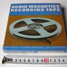 Fonógrafos y grabadoras de válvulas: CINTA MAGNETICA MAGNETOFON MAGNETOFONO 42458 AUDIO MAGNETICS 5 3/4 PULGADAS EN CAJA SIN ABRIR. Lote 112409623