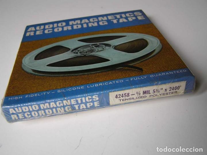 Fonógrafos y grabadoras de válvulas: CINTA MAGNETICA MAGNETOFON MAGNETOFONO 42458 AUDIO MAGNETICS 5 3/4 PULGADAS EN CAJA SIN ABRIR - Foto 11 - 112409623