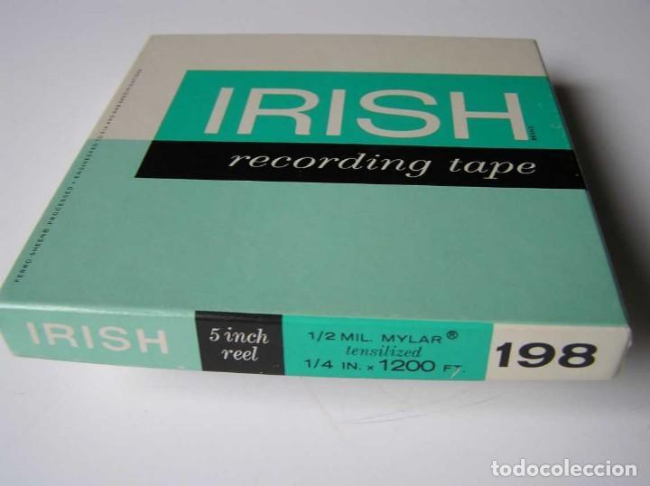 Fonógrafos y grabadoras de válvulas: CINTA MAGNETICA MAGNETOFON MAGNETOFONO IRISH 198 5 INCH REEL RECORDING TAPE - Foto 15 - 112414787
