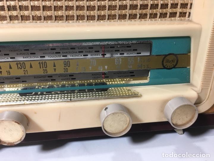 Fonógrafos y grabadoras de válvulas: Antigua radio en madera marca marfil original años 50 60 - Foto 4 - 124594912