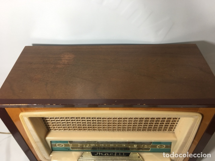 Fonógrafos y grabadoras de válvulas: Antigua radio en madera marca marfil original años 50 60 - Foto 5 - 124594912