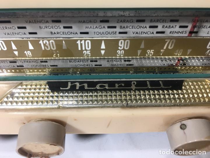 Fonógrafos y grabadoras de válvulas: Antigua radio en madera marca marfil original años 50 60 - Foto 6 - 124594912