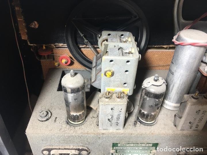 Fonógrafos y grabadoras de válvulas: Antigua radio en madera marca marfil original años 50 60 - Foto 13 - 124594912