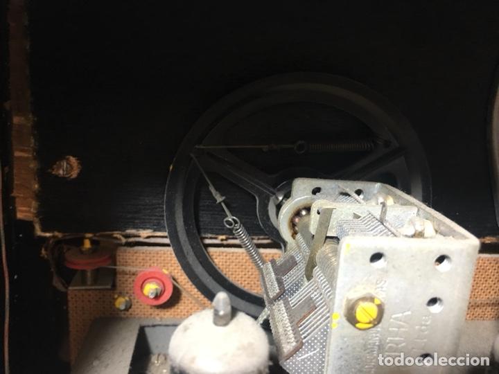 Fonógrafos y grabadoras de válvulas: Antigua radio en madera marca marfil original años 50 60 - Foto 17 - 124594912