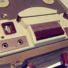 Fonógrafos y grabadoras de válvulas: ANTIGUO MAGNETOFONO MARCA INGRA 125V. Lote 127013411