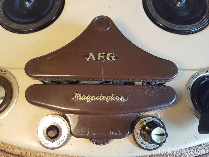 Fonógrafos y grabadoras de válvulas: Magnetofono antiguo, origen aleman, marca AEG - Foto 2 - 139054402