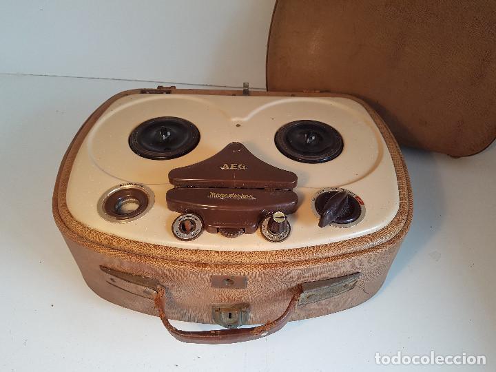 Fonógrafos y grabadoras de válvulas: Magnetofono antiguo, origen aleman, marca AEG - Foto 3 - 139054402