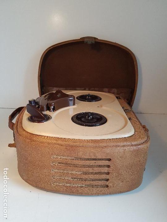 Fonógrafos y grabadoras de válvulas: Magnetofono antiguo, origen aleman, marca AEG - Foto 4 - 139054402