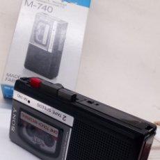 Fonógrafos y grabadoras de válvulas: GRABADORA SONY M-740 CON TRES CINTAS. Lote 141457680