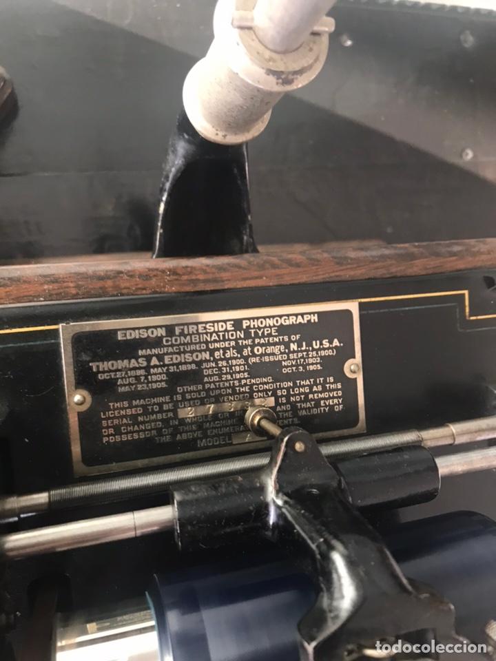 Fonógrafos y grabadoras de válvulas: Fonógrafo Edison original - Foto 8 - 145824268