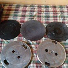 Fonógrafos y grabadoras de válvulas: 2 BASES PARA GIRADISCOS EN ALUMINIO Y ANTI ESTATICO. Lote 147192338