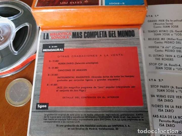 Fonógrafos y grabadoras de válvulas: EXITOS CINTA ANTIGUA DE MAGNETOFON MAGNETOFONICA O MAGNETOFONO CON CAJA FINAL DE LOS 60 REEL - Foto 32 - 148753094