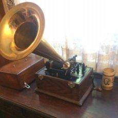 Fonógrafos y grabadoras de válvulas: FONOGRAFO EDISON DE 1898. FUNCIONANDO.. Lote 153724966