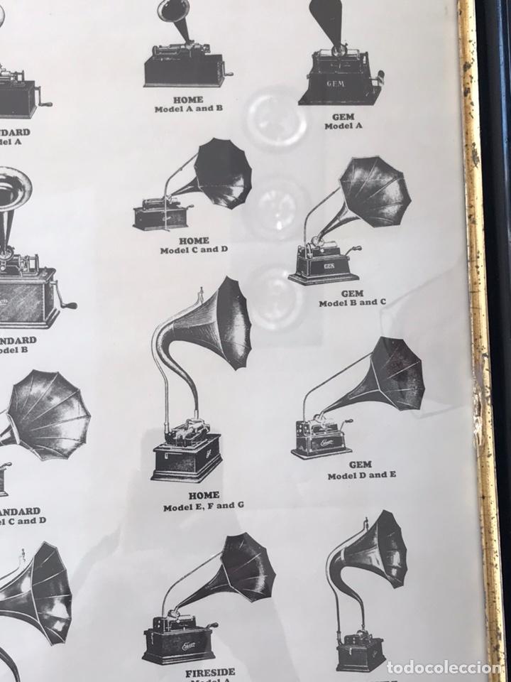 Fonógrafos y grabadoras de válvulas: Marco con lámina ( modelos de fonógrafo Edison ) - Foto 4 - 154493168
