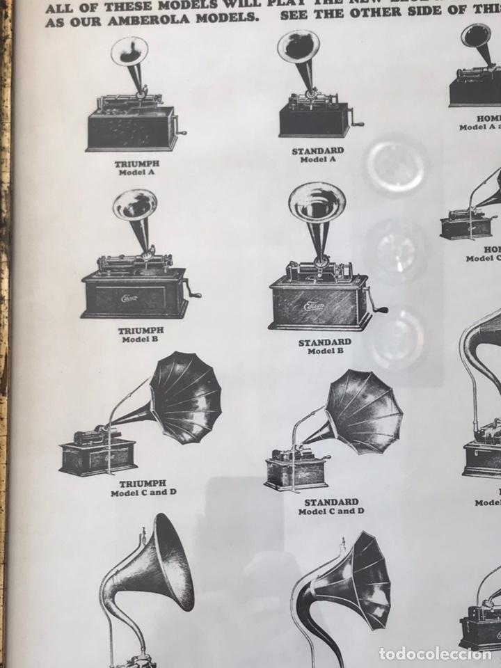 Fonógrafos y grabadoras de válvulas: Marco con lámina ( modelos de fonógrafo Edison ) - Foto 5 - 154493168