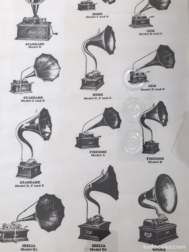 Fonógrafos y grabadoras de válvulas: Marco con lámina ( modelos de fonógrafo Edison ) - Foto 6 - 154493168