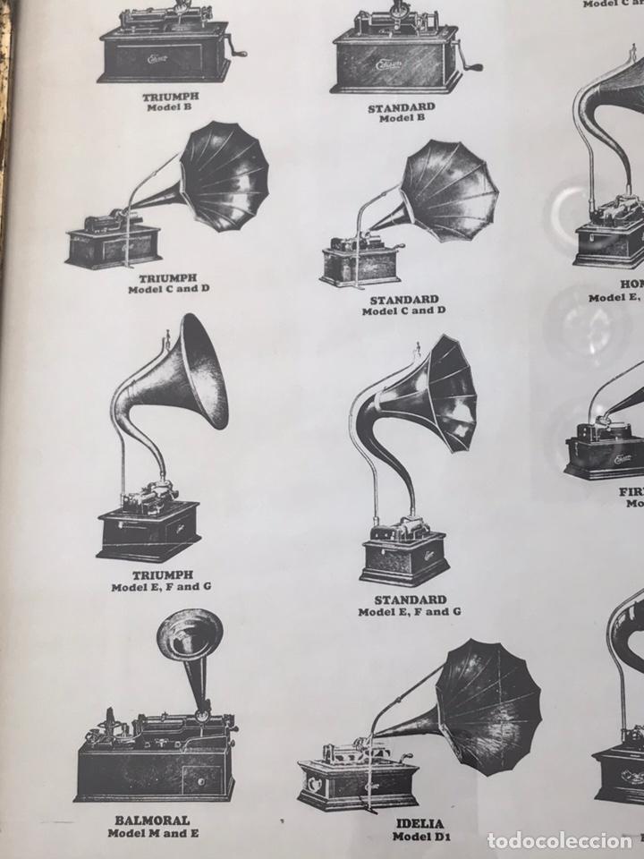 Fonógrafos y grabadoras de válvulas: Marco con lámina ( modelos de fonógrafo Edison ) - Foto 7 - 154493168