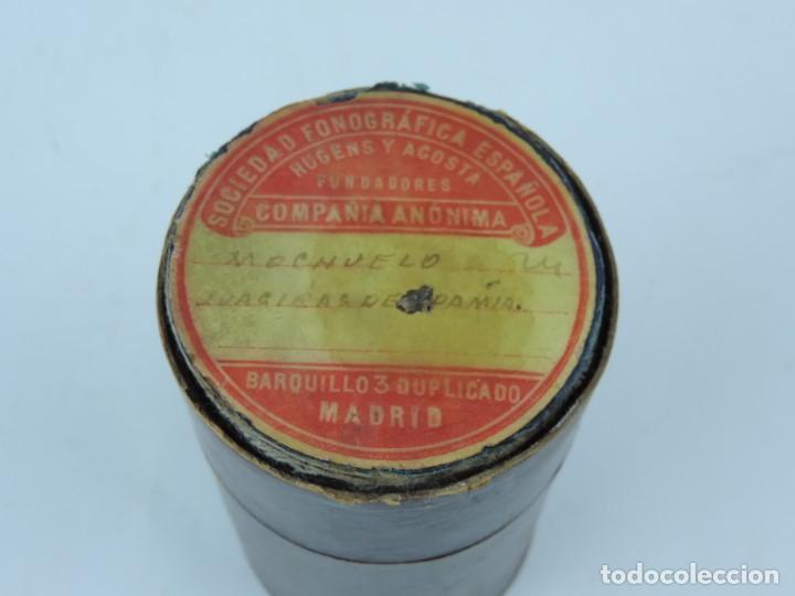 Fonógrafos y grabadoras de válvulas: Cilindro de cera de la Sociedad Fonográfica Española Hugens y Acosta, Flamenco, Mochuelo (Antonio de - Foto 2 - 155780190