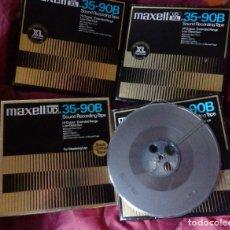 Fonógrafos y grabadoras de válvulas: LOTE DE 4 CINTAS DE AUDIO O CINTA MAGNÉTICA MAXELL. Lote 155896454