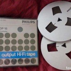 Fonógrafos y grabadoras de válvulas: LOTE DE 2 CINTAS DE PHILIPS O CINTA MAGNÉTICA PHILIPS. Lote 156465066