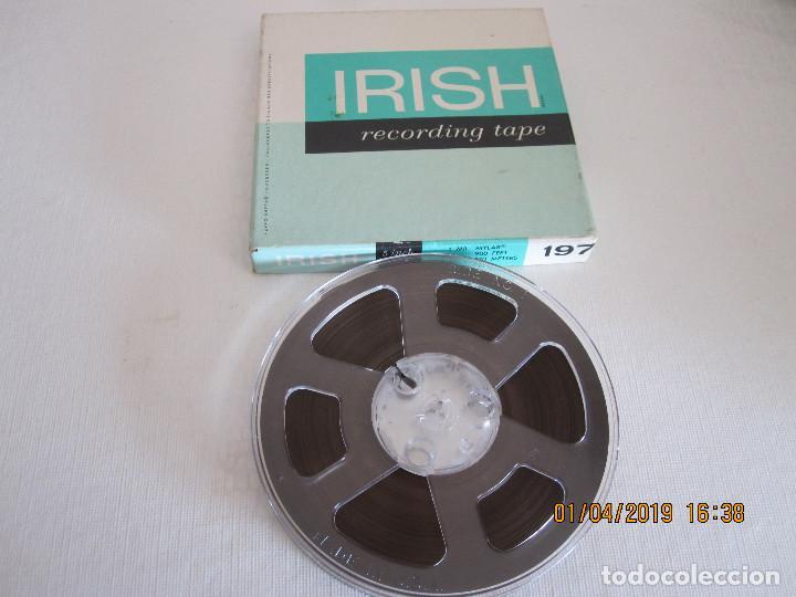 Fonógrafos y grabadoras de válvulas: CINTA MAGNETICA IRISH RECORDING TAPE 198 5 INCH REEL 1/2 MIL MYLAR tensilized 1/4 IN X 1200 FT. - Foto 2 - 258829665