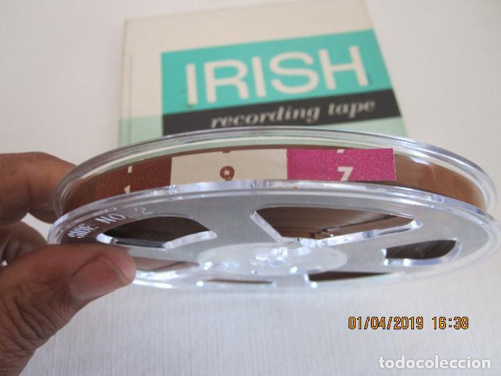 Fonógrafos y grabadoras de válvulas: CINTA MAGNETICA IRISH RECORDING TAPE 198 5 INCH REEL 1/2 MIL MYLAR tensilized 1/4 IN X 1200 FT. - Foto 3 - 258829665