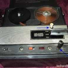 Fonógrafos y grabadoras de válvulas: MAGNETOFON DE CINTA PEQUEÑA STANDARD SR-300 + 4 CINTAS DE AUDIO. Lote 172392155