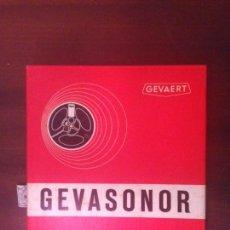 Fonógrafos y grabadoras de válvulas: GEVASONOR - 350 MINUTOS - CINTA VIRGEN PARA MAGNETOFÓN -. Lote 159867654