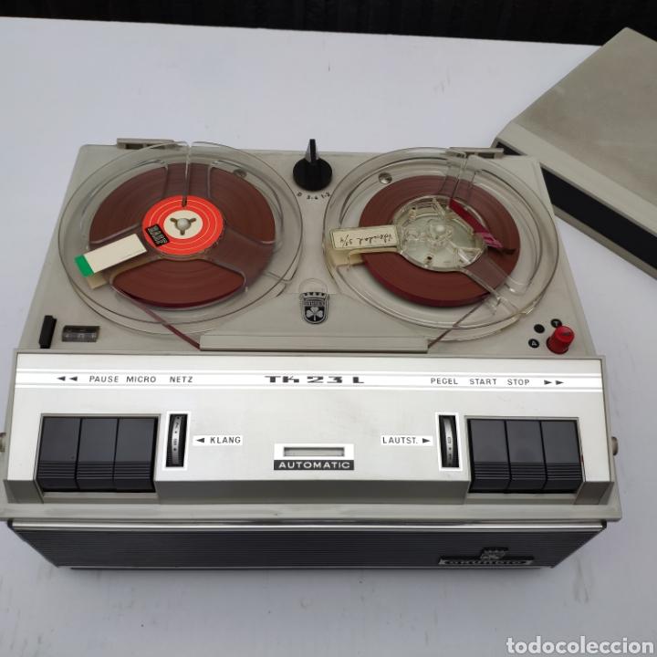 Fonógrafos y grabadoras de válvulas: Magnetofono años 60 grundig tk 23 l deluxe - Foto 17 - 160963444