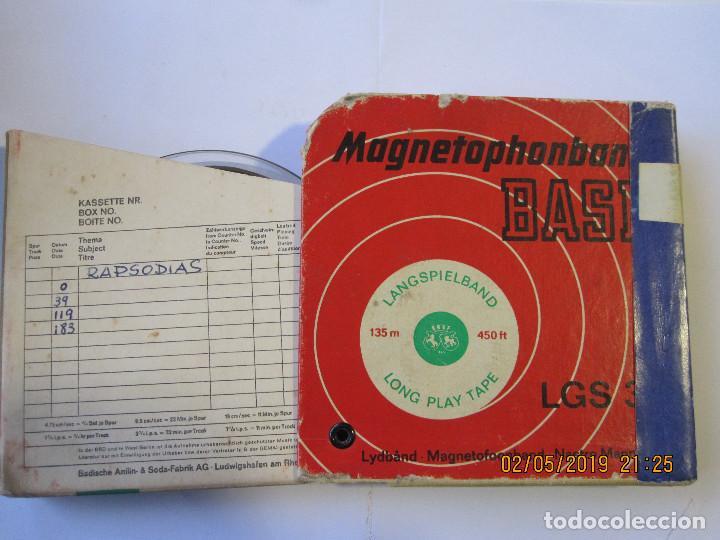 ANTIGUA CINTA MAGNÉTICA DE MAGNETOFONO MARCA BASF MAGNETOPHONBAND BASF TIENE GRABADAS VARIAS RAPS (Radios, Gramófonos, Grabadoras y Otros - Fonógrafos y Grabadoras de Válvulas)