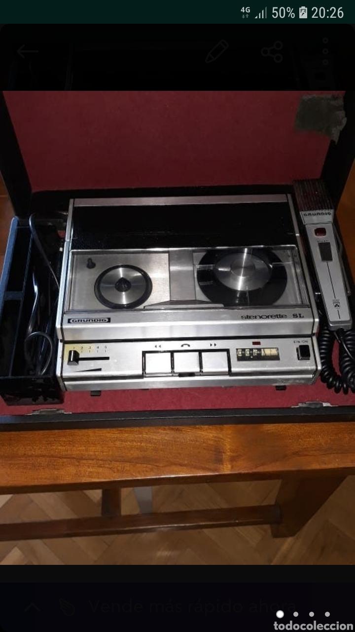 GRABADORA ANTIGUA GRUNDIG STERONETTE (Radios, Gramófonos, Grabadoras y Otros - Fonógrafos y Grabadoras de Válvulas)