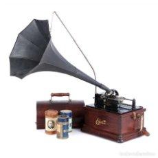 Fonógrafos y grabadoras de válvulas: ANTIGUO FONÓGRAFO EDISON FIRESIDE PARA CILINDROS DE 2 Y 4 MINUTOS. USA, 1905. Lote 171482889