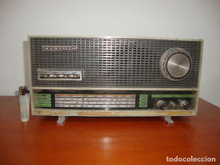 MUY DIFICIL RADIO VALVULAS MARAHIS MOD. 203 VER FOTOS (Radios, Gramófonos, Grabadoras y Otros - Fonógrafos y Grabadoras de Válvulas)