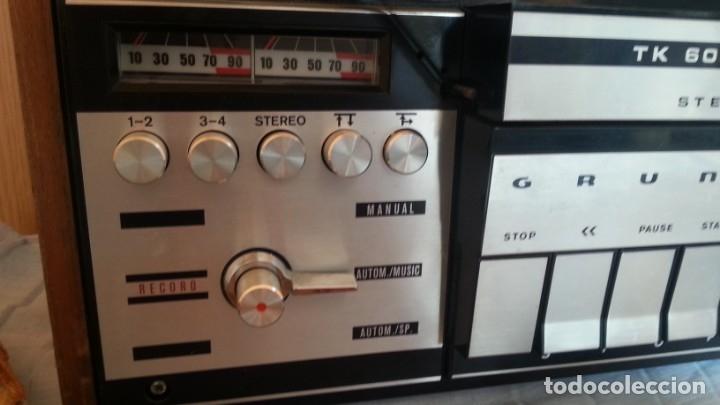 Fonógrafos y grabadoras de válvulas: Grabadora GRUNDIG. Buen estado. Años 70. - Foto 3 - 176554983