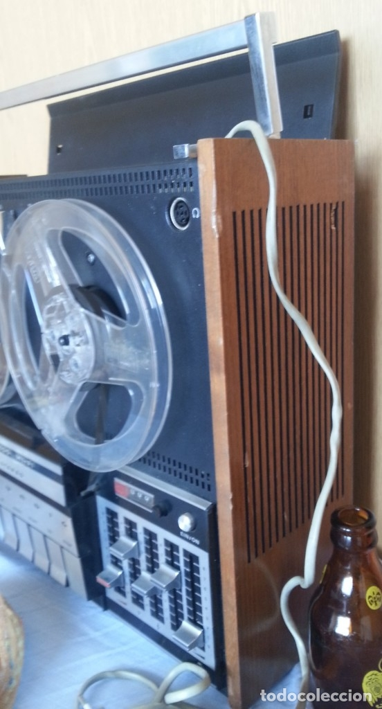 Fonógrafos y grabadoras de válvulas: Grabadora GRUNDIG. Buen estado. Años 70. - Foto 5 - 176554983