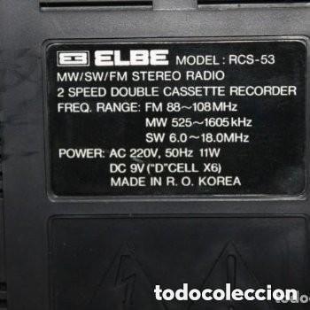 Fonógrafos y grabadoras de válvulas: RADIO DE LA MARCA ELBE MODELO: RCS-53 MW/SW/FM STEREO ( FUNCIONA) - Foto 3 - 181351040