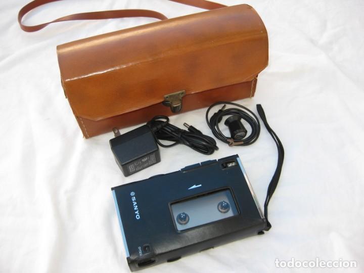 Fonógrafos y grabadoras de válvulas: Grabadora Sanyo TRC 2500, con funda,cables, instrucciones y factura original - Foto 2 - 183934522