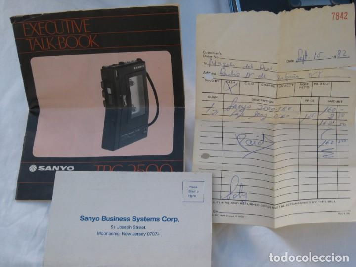 Fonógrafos y grabadoras de válvulas: Grabadora Sanyo TRC 2500, con funda,cables, instrucciones y factura original - Foto 6 - 183934522