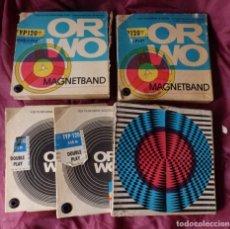 Fonografi e magnetofoni a valvole: LOTE DE 5 CINTA MAGNETICA DE AUDIO MAGNETIC TAPES ORWO Y MUNPLAST. Lote 187327095