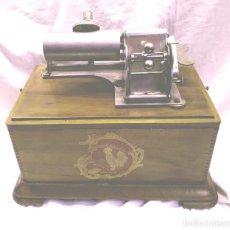 Fonógrafos y grabadoras de válvulas: FONOGRAFO DE CILINDRO JE CHANTE HAUT ET CLAIR CIRCA 1900, FUNCIONA. Lote 187494795