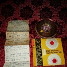 Fonógrafos y grabadoras de válvulas: CINTA DE MAGNETO FON KODAK 6.25 MM 1/4 IN. . Lote 189218072