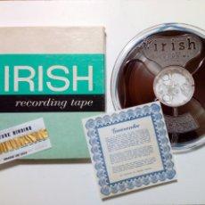 Fonógrafos y grabadoras de válvulas: IRISH RECORDING TAPE - 1 BOBINA DE CINTA MAGNETOFÓNICA - 1/4 IN. X 2400 FT - ORRADIO INDUSTRIES INC.. Lote 189954475