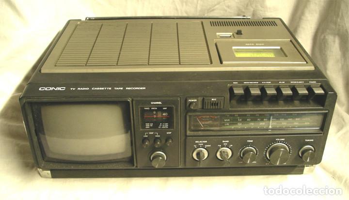 CONIC TV, RADIO Y CASETTE, FUNCIONA. MED. 42 X 30 X 12 CM (Radios, Gramófonos, Grabadoras y Otros - Fonógrafos y Grabadoras de Válvulas)