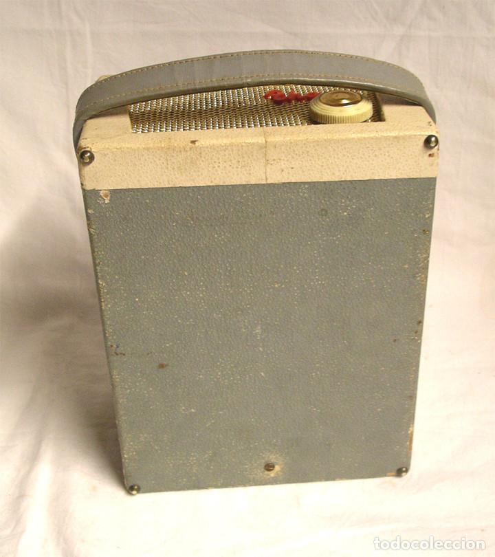 Fonógrafos y grabadoras de válvulas: Pequeño tocadiscos Tho, no probado. Med. 19 x 14 x 9 cm - Foto 5 - 194407928